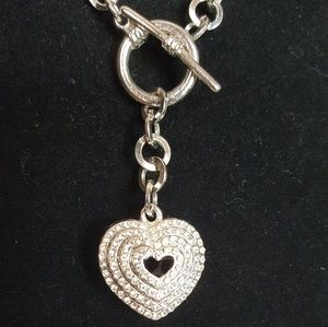 Jewelry - Sparkly Heart Toggle Necklace